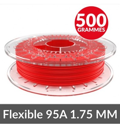 Fexible 95A : MEDIUM FLEX Recreus - 1.75 mm rouge 500G