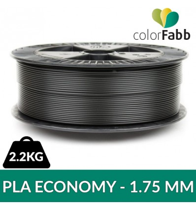 PLA ECONOMY Noir 1.75 mm Colorfabb - 2.2 kg