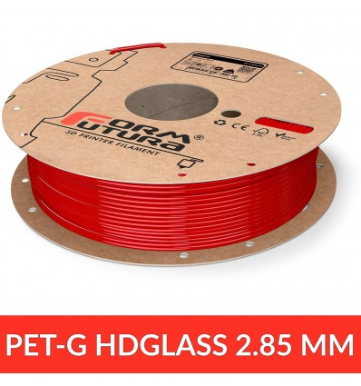 "PET - HDGlass FormFutura 2.85 mm ""Blinded red"" opaque"
