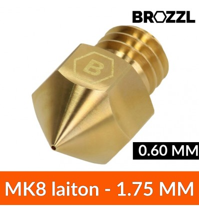 Buse type MK8 1.75 mm 0.60 mm laiton - Brozzl