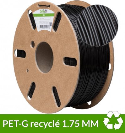 PET-G recyclé Noir 1.75 mm dailyfil - 1kg