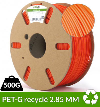 PETG Recyclé Orange dailyfil 2.85 mm - 500g