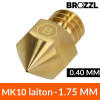 Buse MK10 Laiton 1.75 mm - 0.40 mm Brozzl