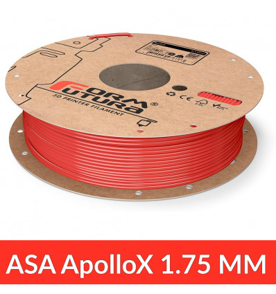 Bobine 1.75 mm ApolloX FormFutura - Rouge 750g