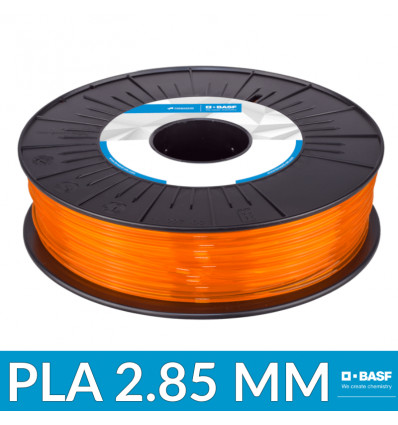 Filament PLA 2.85 mm Professionnel Orange Translucide BASF - 750g