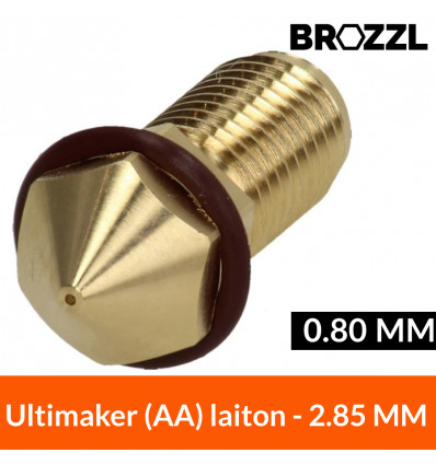 Buse laiton compatible Ultimaker 3 Printcore AA - 0.80 mm BROZZL