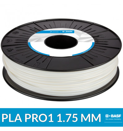 PRO1 filament BASF - Haute performance PLA - Blanc naturel 1.75 mm 750g