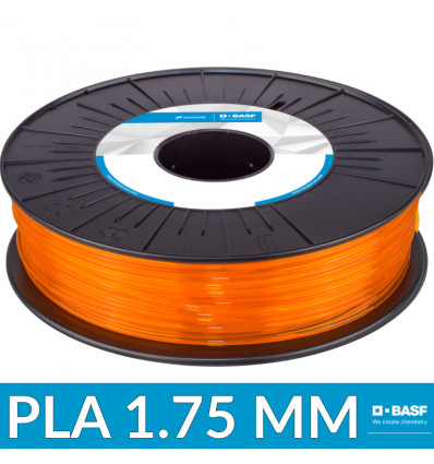 Filament Ultrafuse BASF : PLA 1.75 mm Orange Translucide - 750G