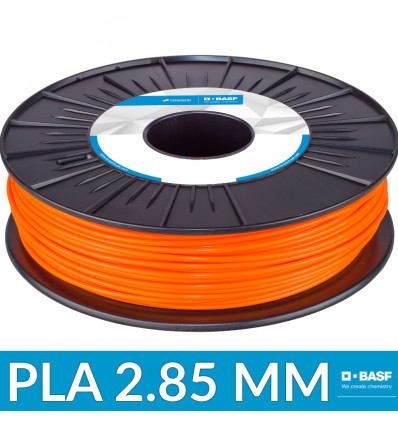 Filament imprimante 3D : PLA 2.85 mm Orange BASF - 750g