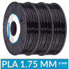 Pack filament BASF Ultrafuse PLA noir 1.75 mm 750g x3