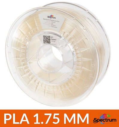 Bobine fil PLA transparent Spectrum - 1.75mm 1kg
