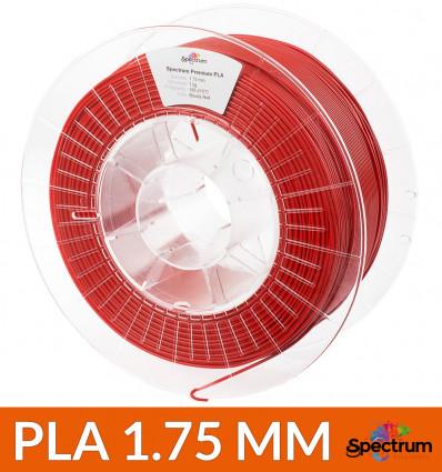"Bobine PLA rouge ""Bloody red"" 1.75 mm 1 kg - Spectrum"