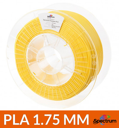 Filament 1.75 mm PLA Spectrum 1kg : Jaune Bahama